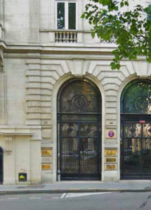 Financ'ile Paris, entrée avenue Hoche